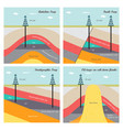 oil and gas traps vector image vector image