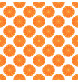 orange fruit seamless art white pattern background vector image vector image