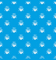organic farm pattern seamless blue vector image