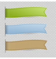 pastel web ribbons set vector image