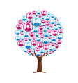people tree concept for community teamwork vector image vector image