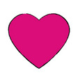 Pink heart love romantic celebration symbol vector image