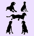 pointer dog silhouette 03 vector image vector image