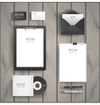 Premium corporate identity template set Business vector image vector image