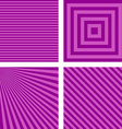 Purple simple striped wallpaper set vector image vector image
