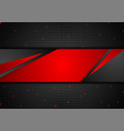 red and black technology background with paper vector image vector image
