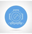 Round icon for scuba helmet vector image vector image