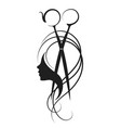 scissors and girl symbol vector image vector image