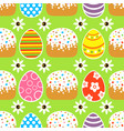 seamless easter background card with cake green vector image
