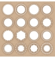 Set of lacy white frames on cardboard background vector image