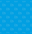 small house pattern seamless blue vector image vector image