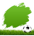 soccer ball with blot and grass vector image vector image
