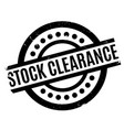 stock clearance rubber stamp vector image