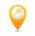 tennis MAP pointer yellow vector image vector image