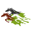 Three running Horses vector image