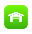 warehouse icon digital green vector image vector image