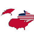Welcome to the United States vector image vector image