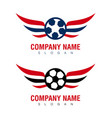wings soccer design vector image