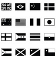 world flag icon set vector image vector image