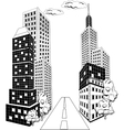 Cartoon City downtown vector image