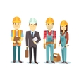 Construction workers team builder vector image