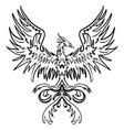 sketch drawing of phoenix vector image