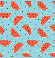 watermelon slices with seeds seamless pattern vector image