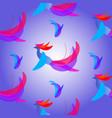 abstract fantasy bird vector image vector image