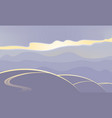 abstract landscape in purple tones vector image