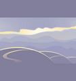 abstract landscape in purple tones vector image vector image