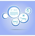 Abstract web design blue bubble vector image vector image