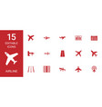airline icons vector image vector image