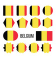 belgium flag collection figure icons set vector image vector image