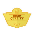 best quality gold custom shape vintage badge vector image