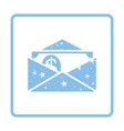 Birthday gift envelop icon with money vector image