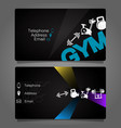 business card for the gym and fitness vector image vector image