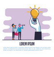business people poster with information vector image