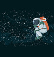 cartoon astronaut thinking or searching solution vector image vector image
