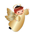 child happy angel vector image