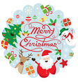 Christmas Characters Label vector image vector image