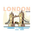 city london in outline style vector image vector image