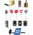 Collection of road signs vector image