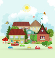 Cute Summer cityscape vector image vector image