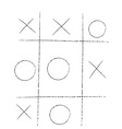 doodle tic tac toe XO game vector image