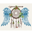 dream catcher with wings vector image vector image