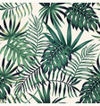 exotic tropical leaves seamless pattern white vector image vector image
