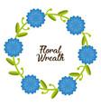 floral wreath design vector image vector image