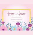 flowers wedding flower flourish foliage vector image
