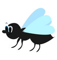 flying ant on white background vector image vector image