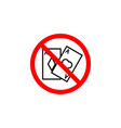 forbidden gambling card icon can be used for web vector image